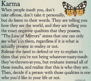 karma life quotes quotes quote butterfly life wise karma ... | Etc.