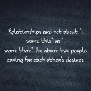 Unselfishness...