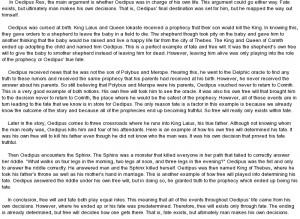 oedipus rex downfall essay