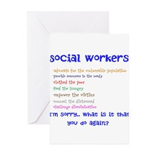 Social Work Greeting Card for