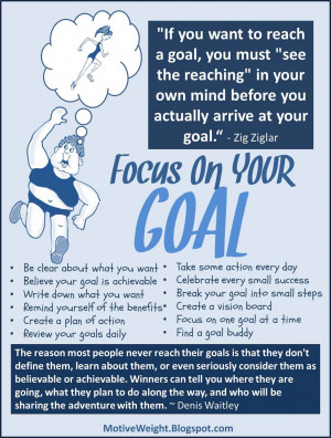 finding ways to stay focused on your weight loss and fitness goals is ...