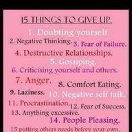 Really need to give about half of these up ASAP before it affects my ...