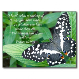 Butterfly and Bible Verse Post Cards