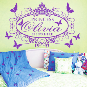Leave personal name in order)Princess Sleep Here Large Name Princess ...