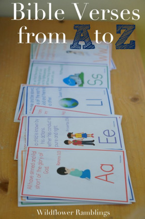 ABC Bible Verses for kids -- free alphabet bible printables ...