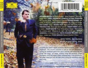 Musica Caratula de Bryn Terfel Silent Noon Del 2004 Trasera