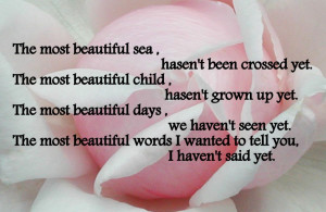 Romantic Pictures With Quotes: Romantic Quote The Most Beautiful Sea