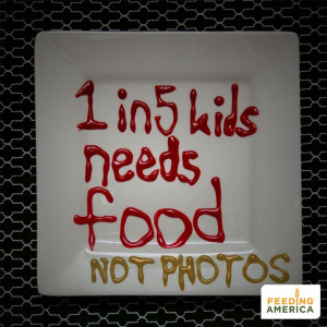 solve childhood hunger in America. Write '1 in 5 kids faces hunger ...