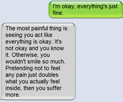 phone, quote, sad, text