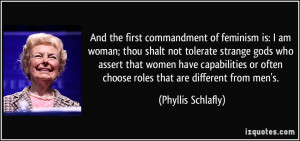 am woman; thou shalt not tolerate strange gods who assert that women ...