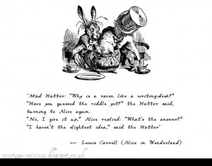 Alice in Wonderland: Why is a Raven like a Writing Desk?' - Lewis ...