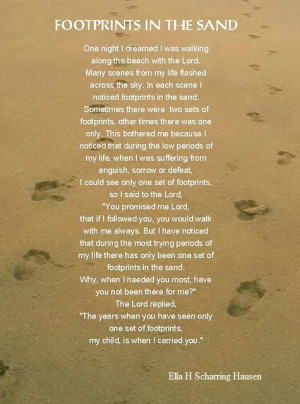 My Dad's Footprints in the Sand Prayer Journal