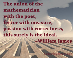Today's quote is from William James, via the Furman University ...