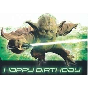 Greeting Card Birthday Star Wars Yoda Happy Birthday