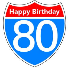 80th Birthday Wishes and Message for Birthday Cards
