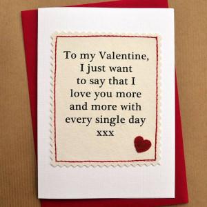 handmade valentines day card by jenny arnott cards & gifts ...