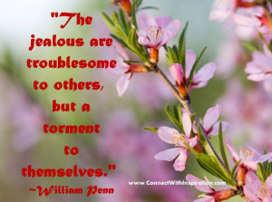 ... quote, The Jealous Are Troublesome To Others, quote with flower