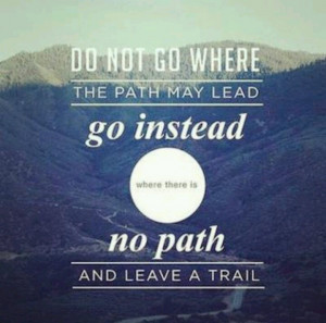 Don't follow the path, creat one.