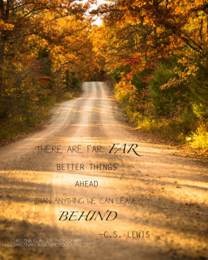 Inspirational Quote Photo. C.S. Lewis Quote. Rustic Road Photo ...
