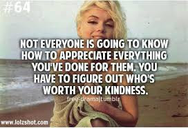 ... .You Have To Figure Out Who's Worth Your Kindness ~ Kindness Quote