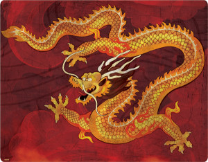 Ancient Chinese Fire Dragon