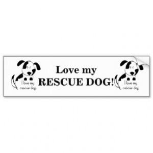 Inspirational LOVE MY RESCUE DOG Pet Car Bumper Sticker