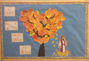 Here is a picture of last year's Fall Bulletin Board
