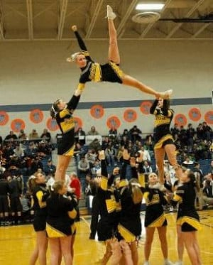 Cheerleading Quotes for Flyers | Cheerleading Stunt Photo Panther ...