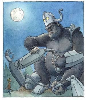King Kong/ Iron Giant by Justin LaRocca Hansen