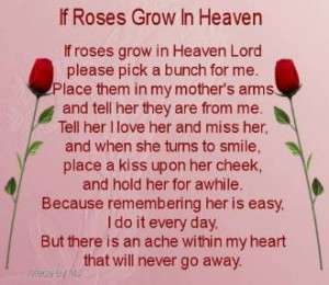 Mothers Day Poem For My Mom Who Passed Away My Mother Passed Away On ...