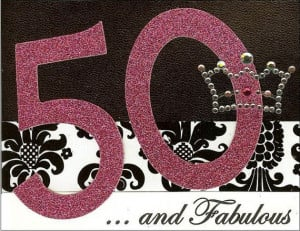 50 and Fabulous Birthday Card by TRJInspirations on Etsy, $3.00