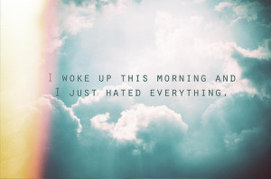 blue, clouds, hate, misanthrope, morning, people, sky, text ...