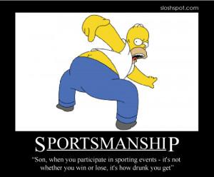 Homer Simpson Motivational Poster Sportsmanship
