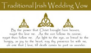 Traditional Irish Wedding Vow