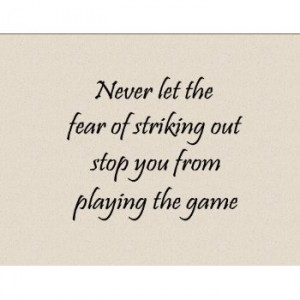 ... PLAYING THE GAME Vinyl wall lettering stickers quotes and sayings home