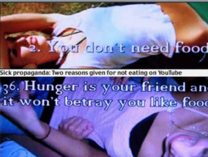 Users boast that eating disorders such as anorexia and bulimia are a ...