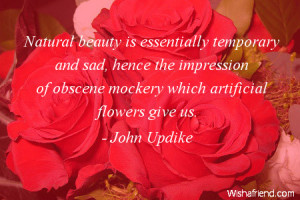 Natural Beauty Is Essentially Temporary And Sad, Hence The Impression ...