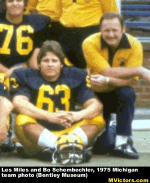 Bo Schembechler and Les Miles 1975 Michigan team photo .....Google ...
