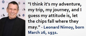 Leonard Nimoy, born March 26, 1931. #LeonardNimoy #MarchBirthdays # ...