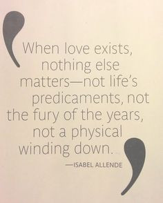 When love exists....