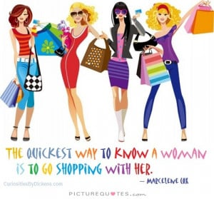 Woman Quotes Shopping Quotes Marcelene Cox Quotes
