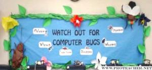 computer lab bulletin board