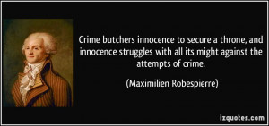 Crime butchers innocence to secure a throne, and innocence struggles ...