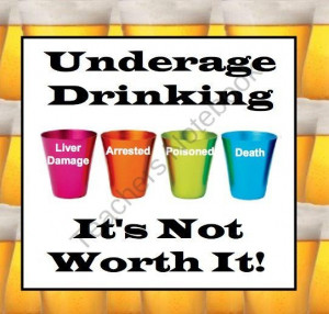 The Dangers of Drinking Alcohol / Underage Drinking product from ...
