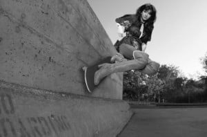 Funny Skateboarding Woman