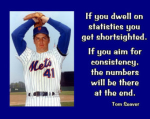 Baseball Poster Tom Seaver NY Mets Photo Quote Wall Art Print 5x7