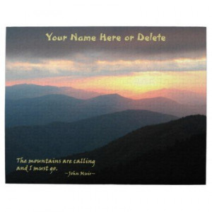 Sunset in the Smokies: Mtns are calling / Muir Puzzle: This sunset ...