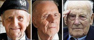 ... veterans: William Stone, 107, Harry Patch, 109, and Henry Allingham