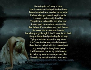 ... One ~ Quotes about dealing with death of a loved one - Collection Of