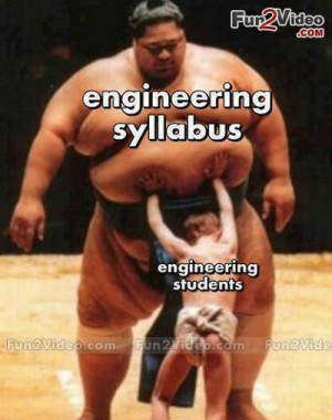 Engineering syllabus vs engineering student funny picture which is ...